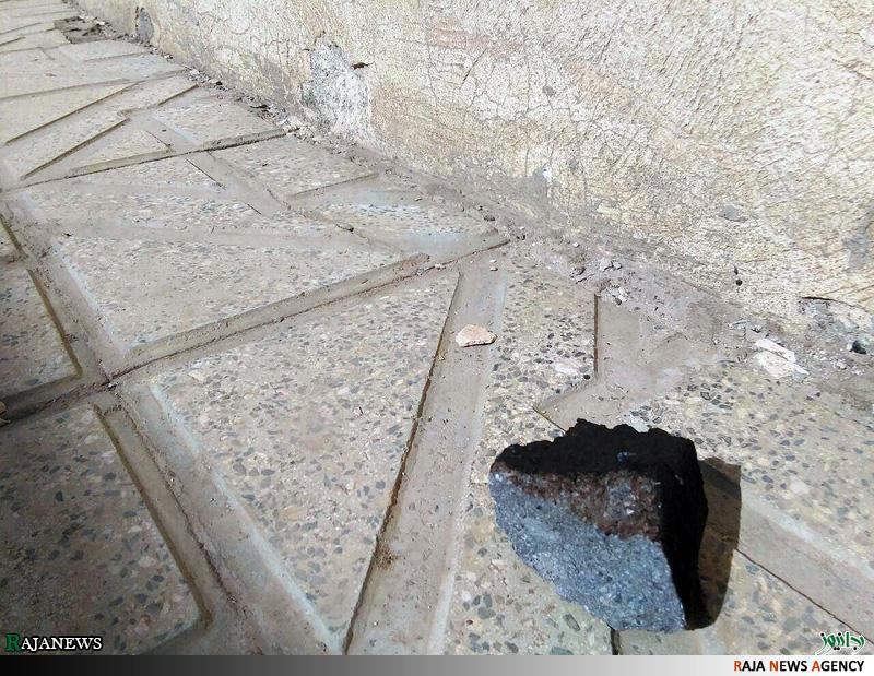 برخورد شهاب سنگ با یک خانه در همدان + عکس