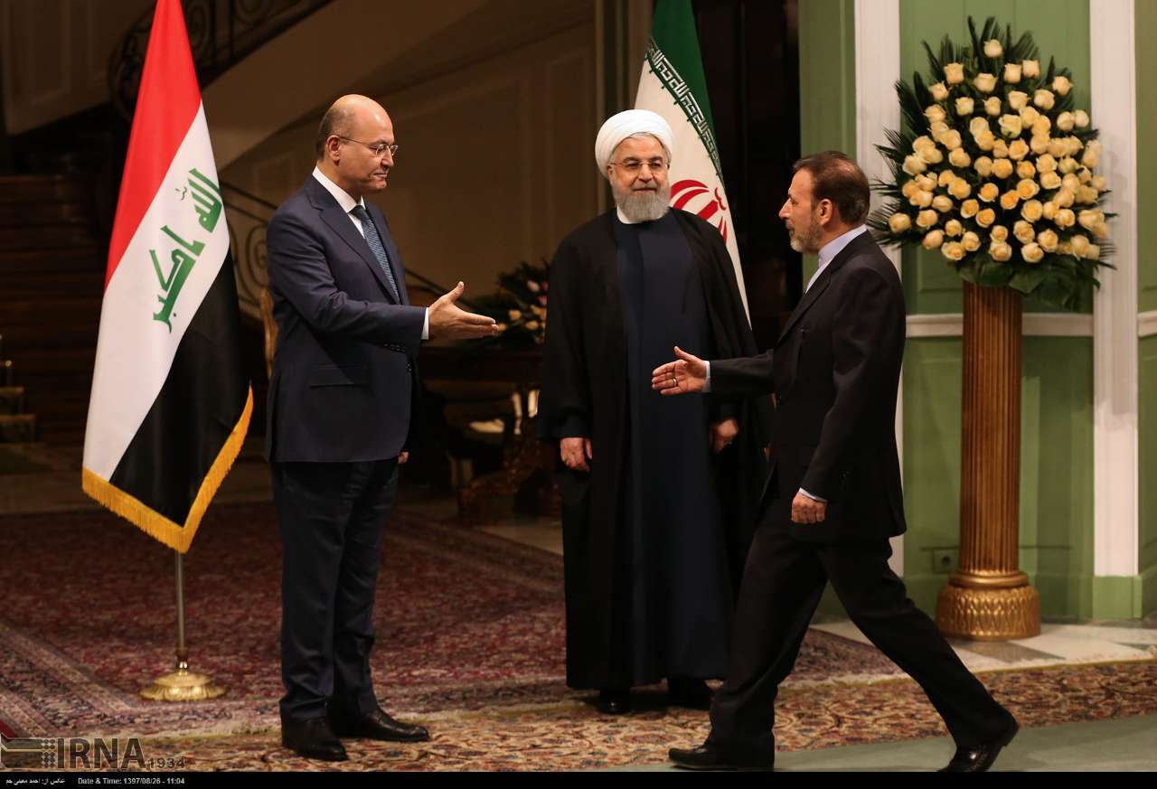 Risultati immagini per حسن روحانی، رئیس جمهوری اسلامی ایران، امروز برای اولین بار در مقام رئیس جمهوری، به عراق سفر کرد.