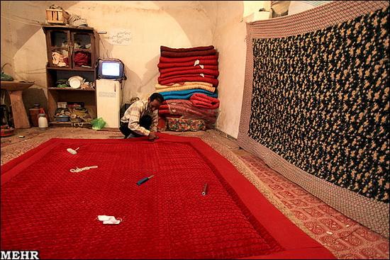 لحاف دوزی سنتی عکس: دوخت لحاف و تشک سنتی در کرمان   پایگاه اطلاع رسانی رجا