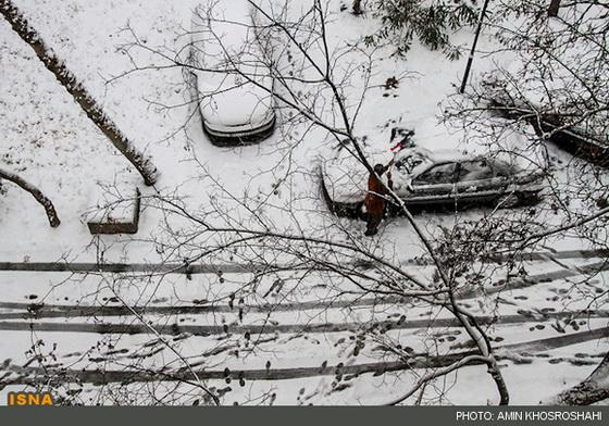 عکس بارش برف امروز در مشهد