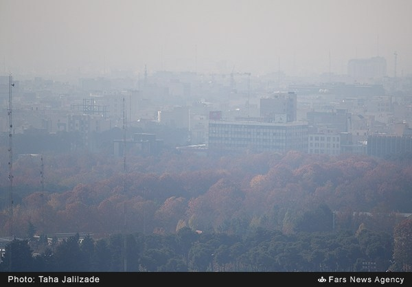 عکس آلودگی هوای تهران