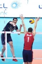 دومین بازی برگشت ایران در مقابل امریکا در ساعت 21 و 10 دقیقه  با حضور پر شور تماشاگران ایرانی آغاز و با برد سه بر صفر تیم کشورمان به پایان رسید و ایران با این برد در جدول 13 امتیازی شد و شانس حضور خود  در مرحله بعدی مسابقات را افزایش داد.