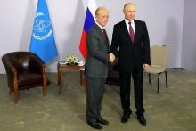 مدیر کل آژانس بین المللی انرژی اتمی با سفر به روسیه با «ولادیمیر پوتین» دیدار کرد.