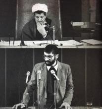 او در تجربهی همکاری با حزبِ جمهوریِ اسلامی نشان داد که نهتنها از نظرِ فکری در چارچوبِ اندیشهی اسلامی - انقلابی قرار نمیگیرد، بلکه وی در عمل نیز بهدنبالِ حاکمکردنِ نوعِ نگاهِ خود بر حزب است.