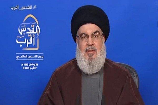 سید حسن نصرالله دبیرکل حزب الله لبنان به مناسبت «روز جهانی قدس» در سخنانی اظهار داشت: ایران در حال حاضر قویترین و قدرتمندترین کشور در محور مقاومت محسوب میشود و تمامی محاسبات و معادلات آمریکا و صهیونیسم در رابطه با آن به بُنبست رسیده است.