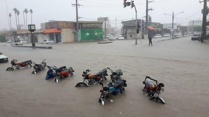 در پی بارش شدید باران، خیابانهای شهرستان های بوشهر زیر آب رفته و مردم این مناطق متحمل خسارات شدند.