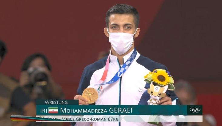محمدرضا گرایی نماینده وزن ۶۷ کیلوگرم کشتی فرنگی ایران نیز در فینال این رقابت ها با شکست حریف اوکراینی خود توانست مدال طلای این وزن را از آن خود کند.