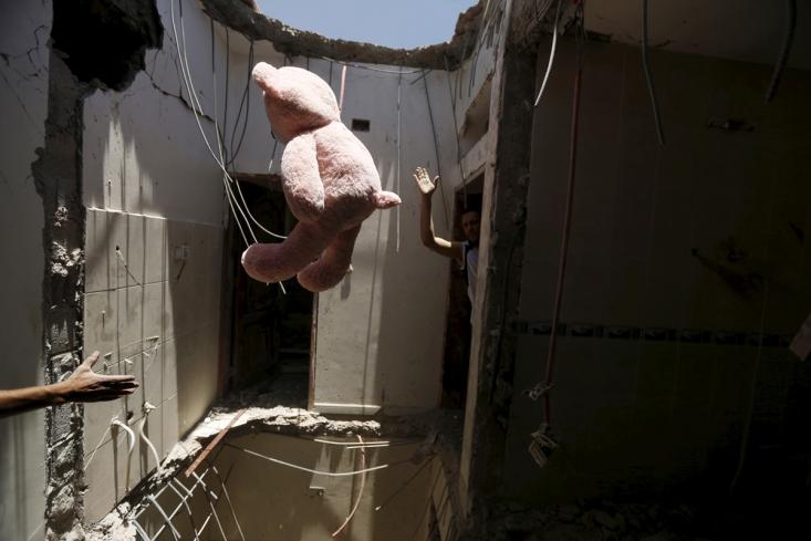 خانه های تخریب شده در صنعا توسط حملات ائتلاف سعودی