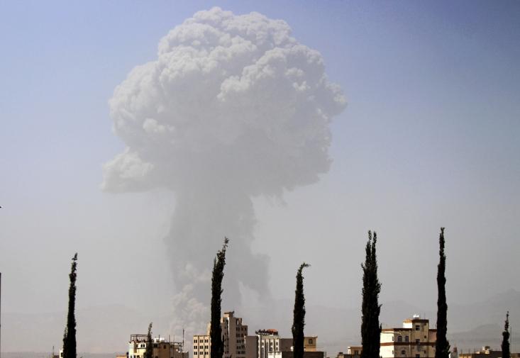حمله سعودی به صنعا با سلاح های کشتار جمعی