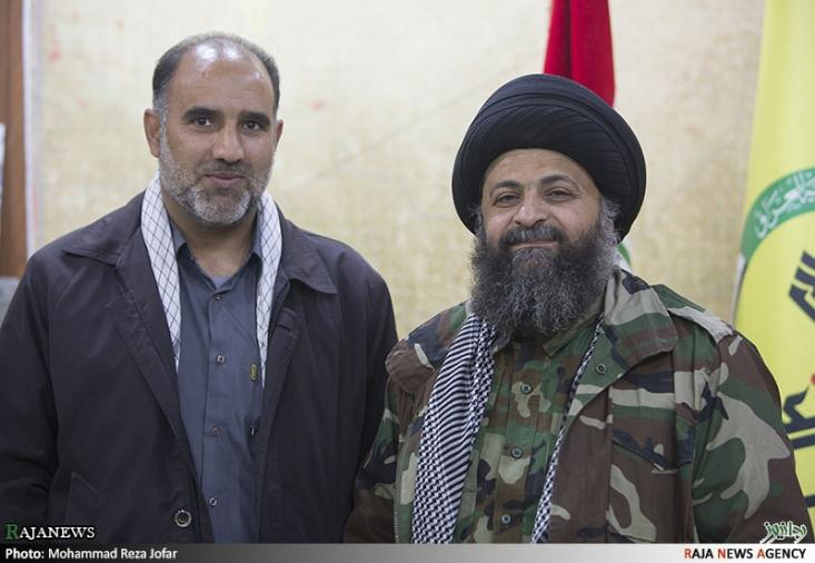 به همراه سید حامد الجزایری فرمانده عملیاتی سرایا الخراسانی