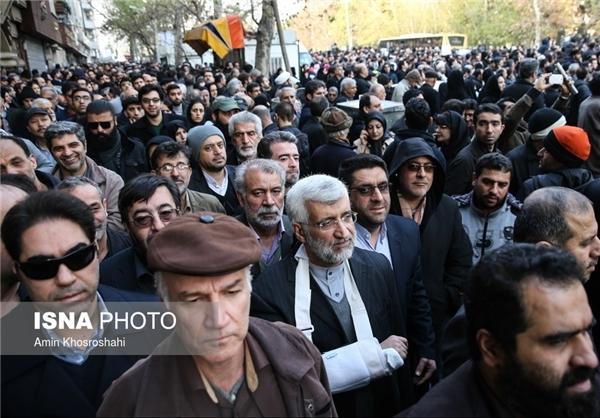 عکس/ سعید جلیلی در تشییع هاشمی رفسنجانی