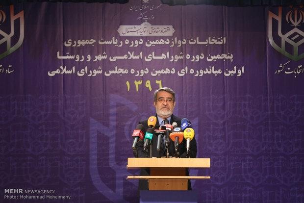 عبدالرضا رحمانی فضلی وزیر کشور با حضور در جمع خبرنگاران با بیان اینکه حدود 41 میلیون نفر در پای صندوق های رای حاضر شدند