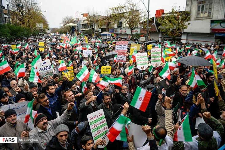مردم ایران در اقدامی انقلابی جهت پایان دادن به ناامنی ها و فتنه گری های خرابکاران صبح امروز در شهرهای کوچک و بزرگی که اثراتی از این فتنه در آنها بود قیام کردند.