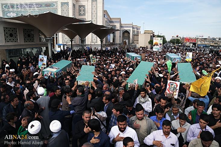 مراسم تشییع و خاکسپاری پیکرهای هفت شهید از شهدای مدافع حرم، فردا در قم برگزار میشود.