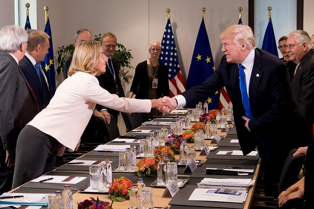 تیرماه 96 موگرینی پس از دیدار و گفت وگو با سرگئی لاوروف وزیر امور خارجه روسیه در بروکسل در یک کنفرانس خبری در پاسخ به سوالی در خصوص خروج امریکا از برجام پاسخ مهمی را داد که می توان این جواب را به عنوان ترازوی عملکرد اروپایی ها لحاظ نمود. وی گفت: اما برجام متعلق به یک کشور نیست، متعلق به جامعه بین المللی و مورد تایید شورای امنیت است و مسئولیت داریم اجرای کامل آن توسط همه طرف ها را تضمین کنیم.
