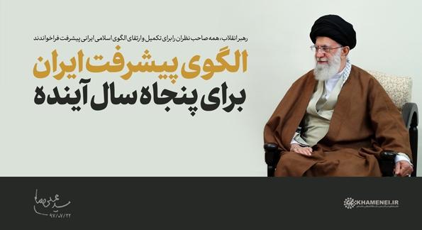 در سال ۱۴۴۴ ایران از نظر سطح کلی پیشرفت و عدالت، در شمار چهار کشور برتر آسیا و هفت کشور برتر دنیا شناخته میشود و دارای ویژگیهای برجسته جامعه اسلامی و خاستگاه تمدن نوین اسلامی ایرانی است.