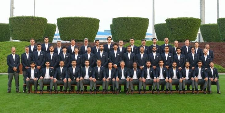 تيم ملی فوتبال ايران دوحه قطر را به مقصد امارات ترك كرد.
