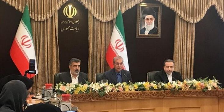 معاون سیاسی وزارت خارجه، سخنگوی دولت و سخنگوی سازمان انرژی اتمی در نشست خبری تصمیمات ایران در گام دوم کاهش تعهدات برجامی پس از پایان مهلت ۶۰ روزه به اروپا را اعلام کردند.