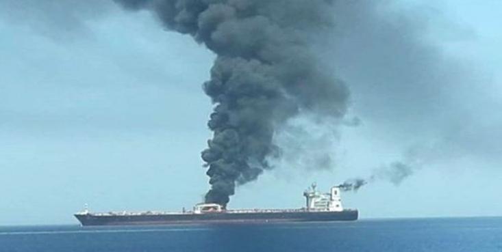 نفت کش ایرانی متعلق به شرکت ملی نفتکش در دو انفجار جداگانه در نزدیکی بندر جده عربستان سعودی دچار انفجار در بخش بدنه شدکه احتمالا این انفجار بر اثر اصابت موشک بوده است.