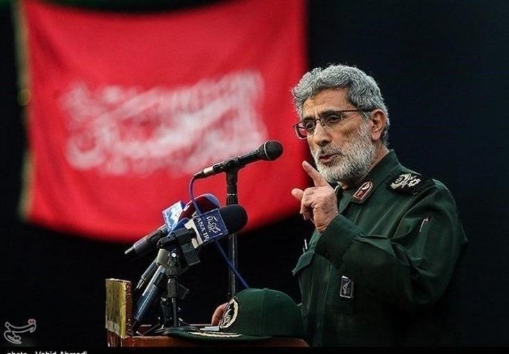 سردار اسماعیل قاآنی فرمانده نیروی قدس سپاه پاسداران انقلاب اسلامی، در یکی از سخنرانیهای خود، به آمریکا هشدار داد که باید منتظر مشتهای محکمی از جانب ایران باشد.