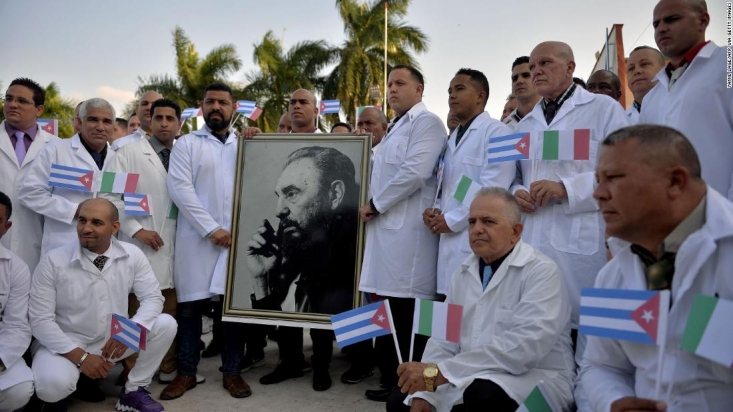 وزارت خارجه آمریکا با رد پیشنهاد کمک پزشکی کوبا اعلام کرده است که نیازی به خدمات و کمکهای پزشکی این کشور ندارد و کشورهای جهان نیز نباید این پیشنهاد را بپذیرند.