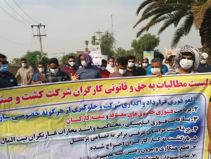 در حالی که 42 روز از اعتصاب کارگران هفتتپه میگذرد حتی یک مسئول استانی و کشوری برای پاسخگویی به مطالبات آنها در میانشان حاضر نشده است.