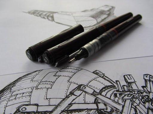 یکی از انواع نوشت افزار که برای ترسیم خطوط نازک و یکدست استفاده میشود راپید است. نوک این قلمها فلزی و ظریف بوده که برای نقشهکشی و طراحی مورد استفاده قرار میگیرد. راپید از جمله قلمهای نسبتا گرانقیمت است که در دو نوع شارژی و غیر شارژی به بازار عرضه میشود، بدینمعنا که امکان خرید مخزن جوهر برای نوع شارژی آن وجود دارد. از دیگر ویژگیهای راپید وجود یک شماره روی بدنه آن است که در حقیقت میزان ضخامت نوک قلم را تعیین میکند که هرچقدر شماره آن بالا برود خطی پهن روی کاغذ میکشد و برعکس.